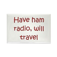 Have Radio Will Travel Rectangle Magnet