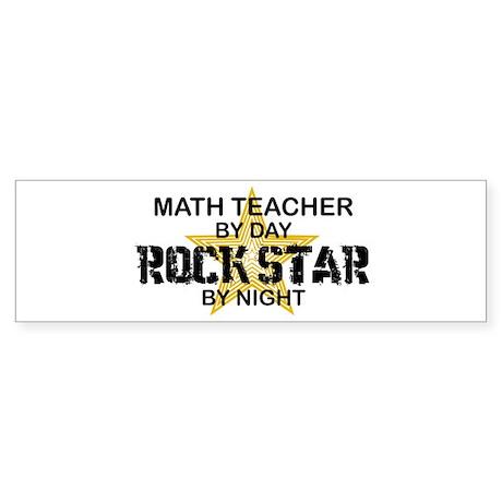 Math Teacher Rock Star Bumper Sticker