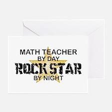 Math Teacher Rock Star Greeting Cards (Pk of 10)