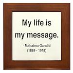 Gandhi 18 Framed Tile