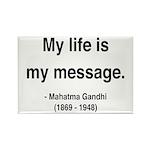 Gandhi 18 Rectangle Magnet (10 pack)