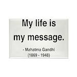 Gandhi 18 Rectangle Magnet (100 pack)