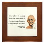 Gandhi 19 Framed Tile