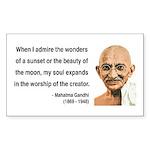 Gandhi 19 Rectangle Sticker