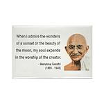 Gandhi 19 Rectangle Magnet (10 pack)