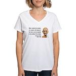 Gandhi 19 Women's V-Neck T-Shirt