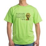 Gandhi 19 Green T-Shirt