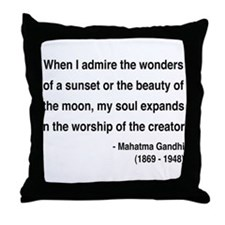 Gandhi 19 Throw Pillow