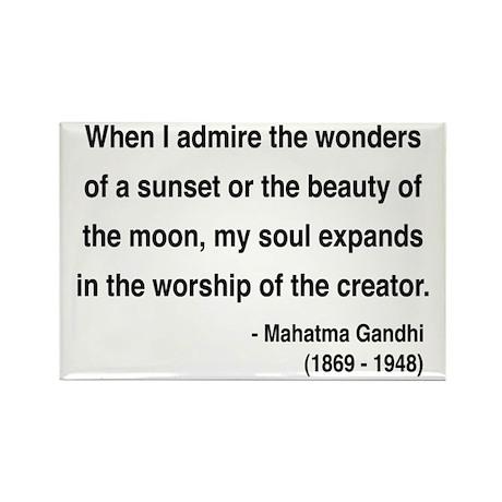 Gandhi 19 Rectangle Magnet