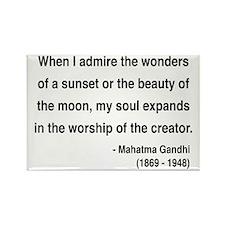 Gandhi 19 Rectangle Magnet (100 pack)