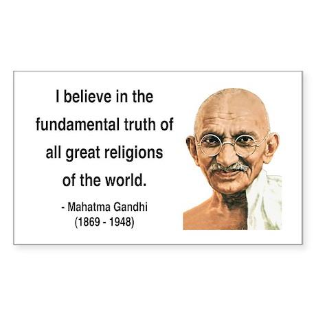 Gandhi 20 Rectangle Sticker