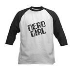 Nerd Girl Kids Baseball Jersey