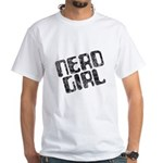 Nerd Girl White T-Shirt