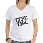 Nerd Girl Women's V-Neck T-Shirt