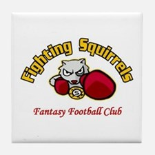 Fighting Squirrels Tile Coaster
