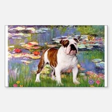 Lilies & French Bulldog Rectangle Decal