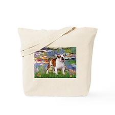 Lilies & French Bulldog Tote Bag