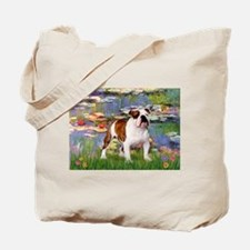 Lilies & French Bulldog Tote Bag