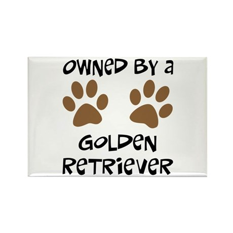 Owned By A Golden... Rectangle Magnet