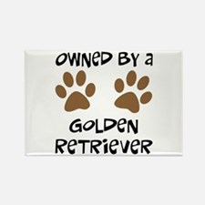 Owned By A Golden... Rectangle Magnet (10 pack)
