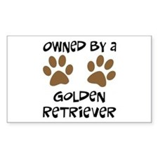 Owned By A Golden... Rectangle Decal