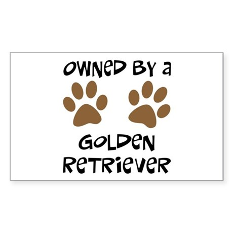Owned By A Golden... Rectangle Sticker