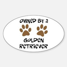 Owned By A Golden... Oval Decal