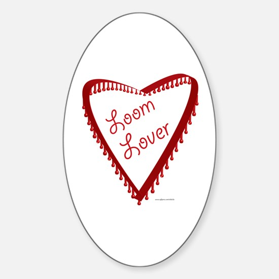 Loom Lover Heart Oval Decal