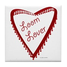 Loom Lover Heart Tile Coaster