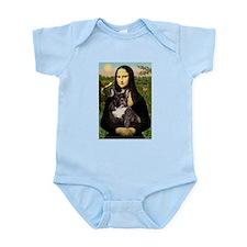 Mona Lisa & French Bulldog  Infant Creeper