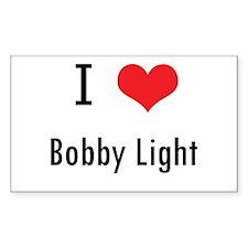I love Bobby Light Rectangle Decal