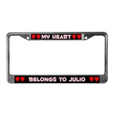 My Heart: Julio (#002) License Plate Frame
