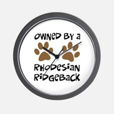 Owned By A Rhodesian... Wall Clock
