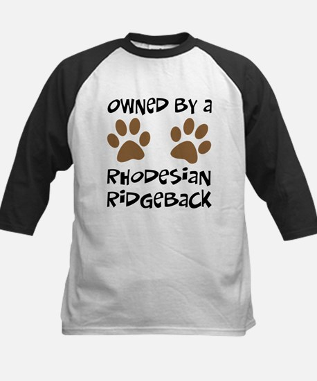 Owned By A Rhodesian... Kids Baseball Jersey