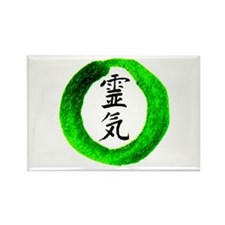 Circle Green Usui Reiki Rectangle Magnet