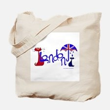 London Kitty Tote Bag