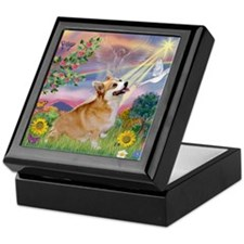 Cloud Angel Welsh Corgi Keepsake Box