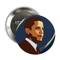 Barack Obama Wordless Button