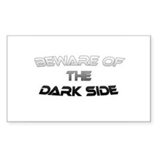 BEWARE OF THE DARK SIDE Rectangle Bumper Stickers