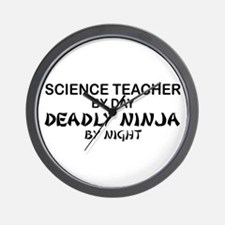 Science Teacher Deadly Ninja Wall Clock