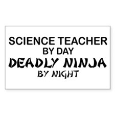 Science Teacher Deadly Ninja Rectangle Decal