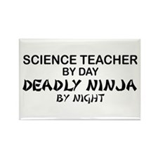 Science Teacher Deadly Ninja Rectangle Magnet