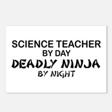 Science Teacher Deadly Ninja Postcards (Package of