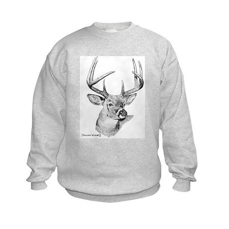 Whitetail Deer Kids Sweatshirt