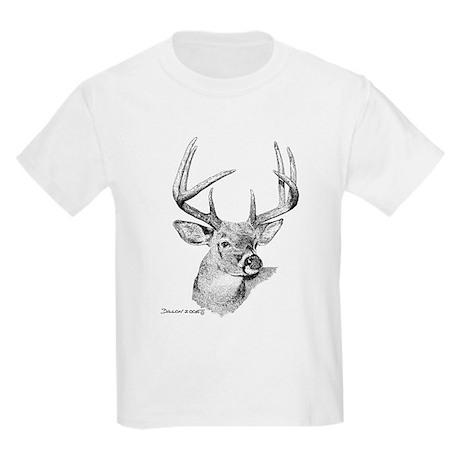 Whitetail Deer Kids Light T-Shirt