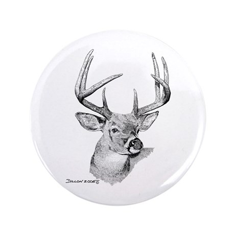 "Whitetail Deer 3.5"" Button"