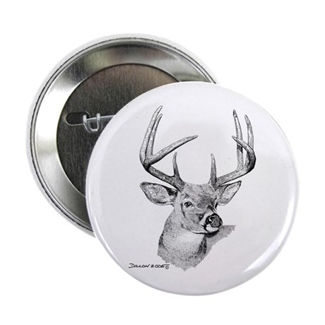 """Whitetail Deer 2.25"""" Button (100 pack)"""