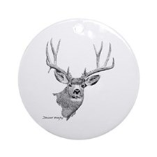 Mule Deer Ornament (Round)