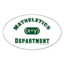 Mathelete Oval Decal