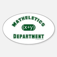 Mathelete Oval Decal